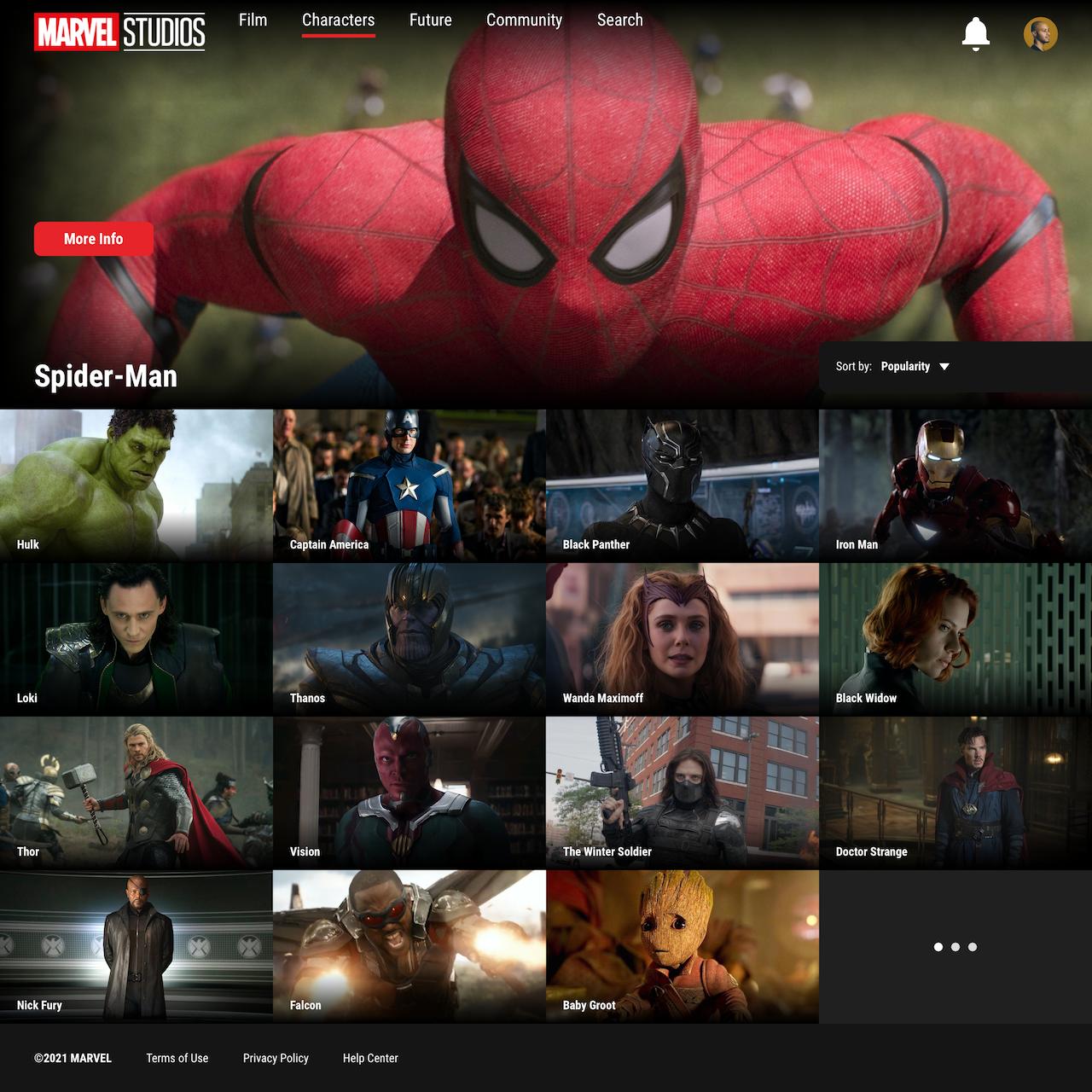 Marvel Studios streaming app project thumbnail